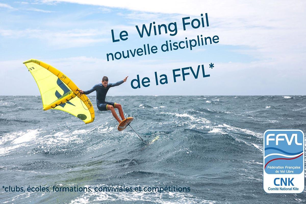 La FFVL accompagne le wingfoil