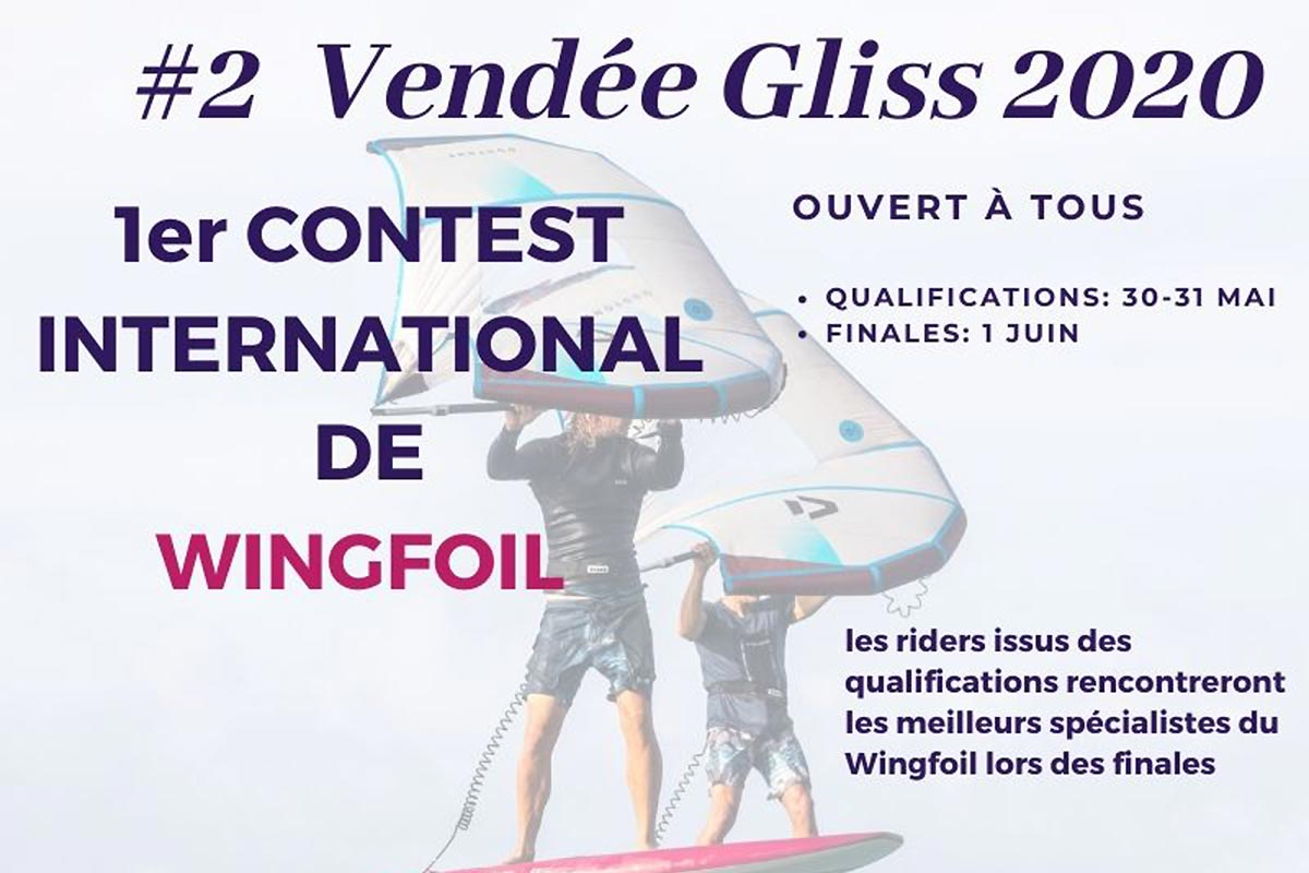 Du wingfoil sur le Vendée Gliss Event