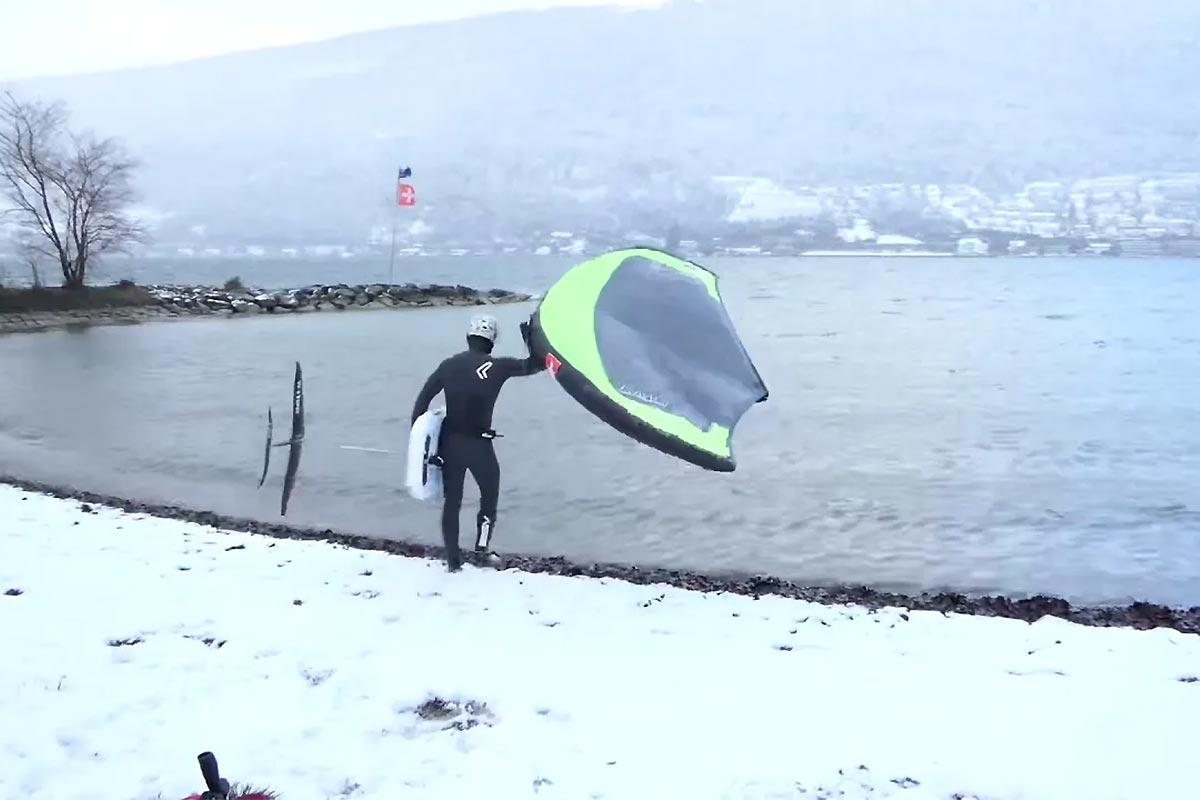 Une session dans le froid pour Balz Müller