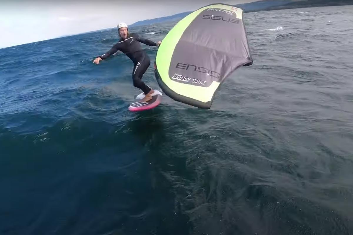 Un downwind… sur le lac de Neuchâtel !