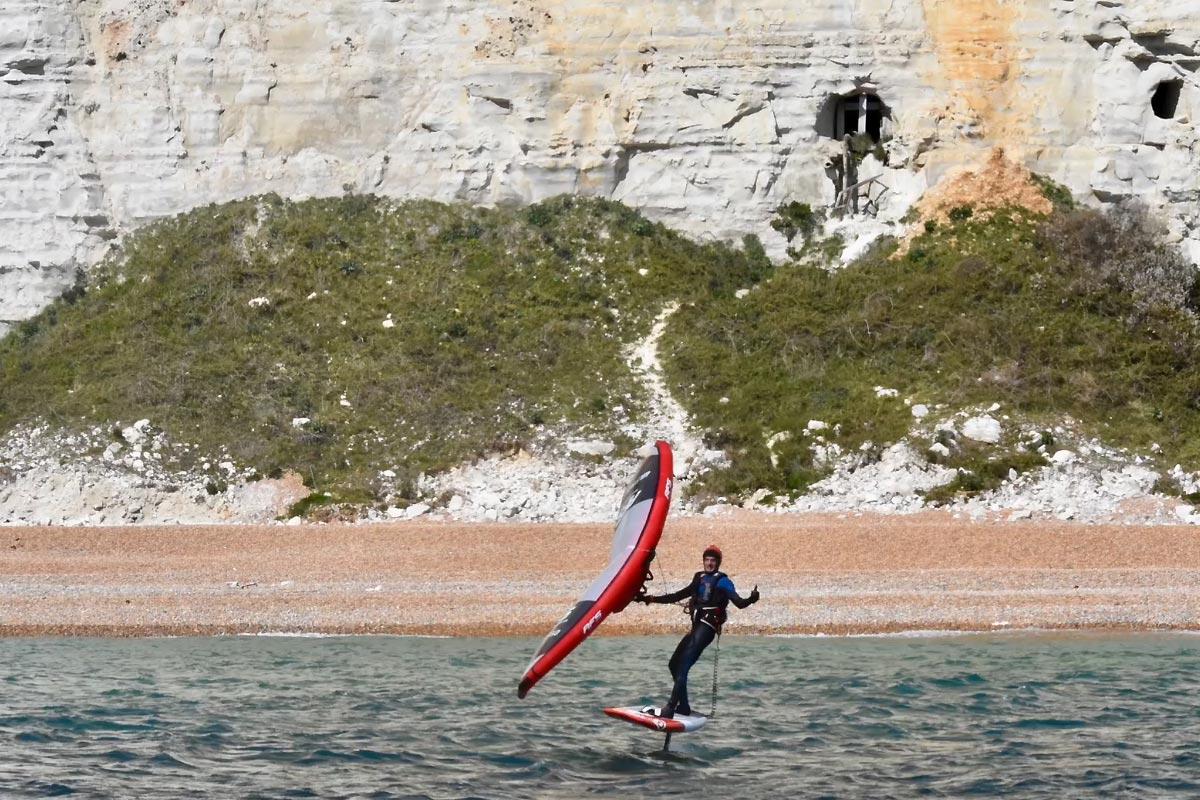 La traversée de la Manche en wingfoil