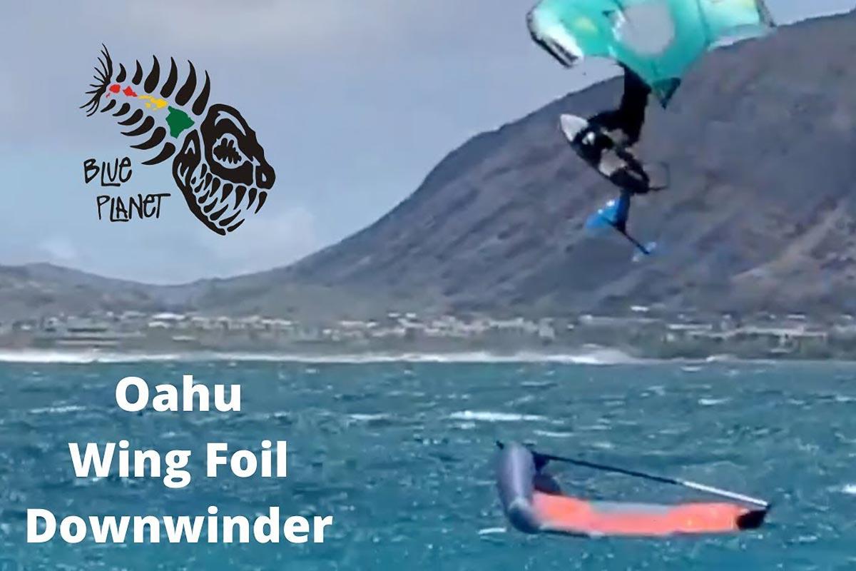 Un bon downwind entre potes à Oahu