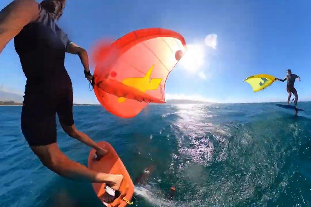 Un bon downwind sur l'île de Maui