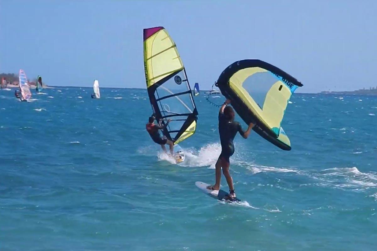 Clément Colmas en action à l'Anse Vata