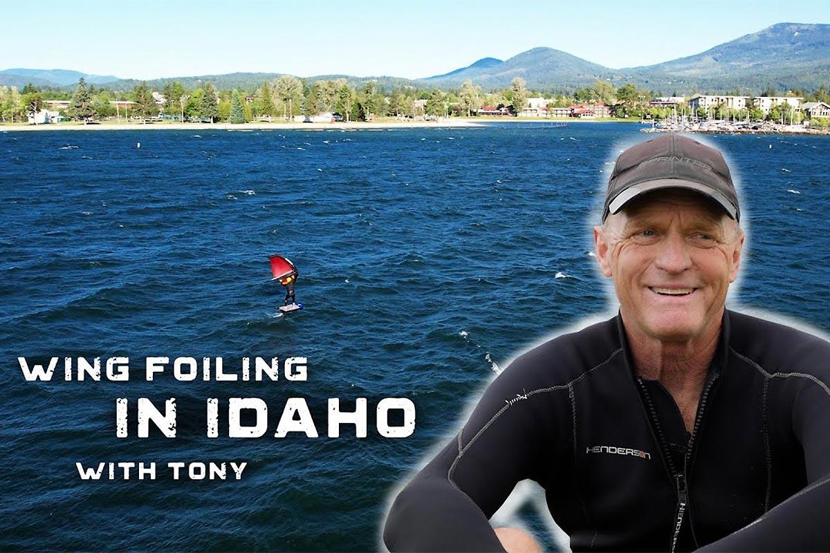 Du wingfoil dans l'Idaho avec Tony Mueller