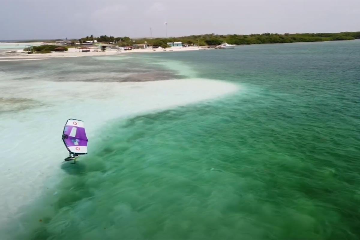 Du wingfoil au paradis à Bonaire