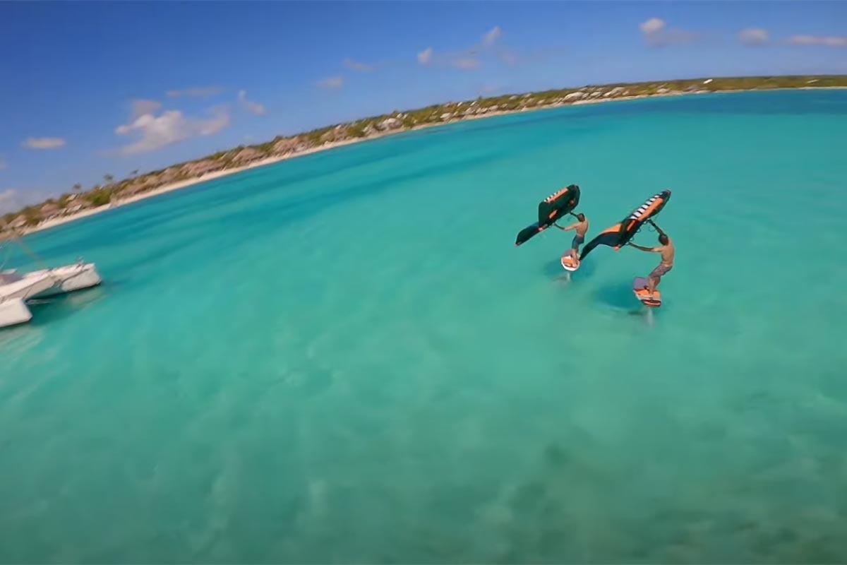 Julien et Camille Bouyer en downwind en Guadeloupe