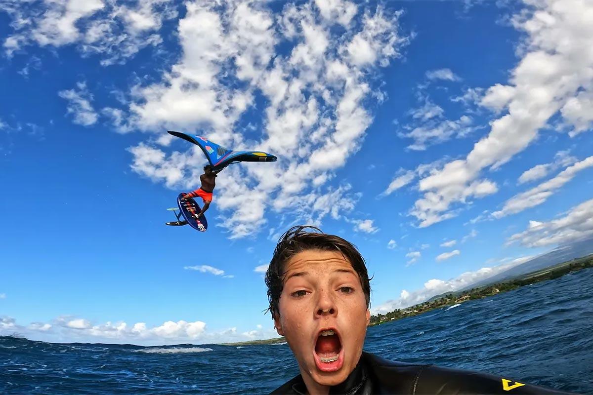 Kai Lenny en action à Maui