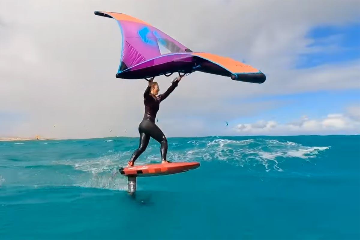 Paula Novotna en action à Fuerteventura