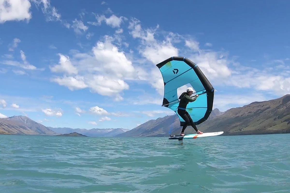 Shaan Miller sur le lac Wakatipu