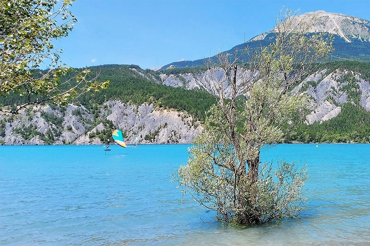 De belles sessions sur le lac de Serre-Ponçon