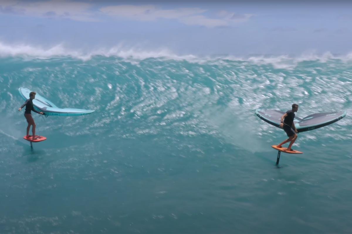 Titouan Galea et Christian Barcellos en action à Maui