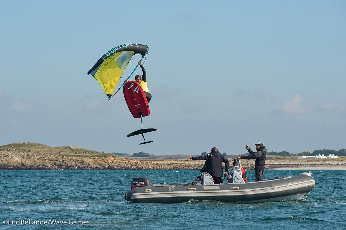 Un show et du slalom en wingfoil sur les Wave Games
