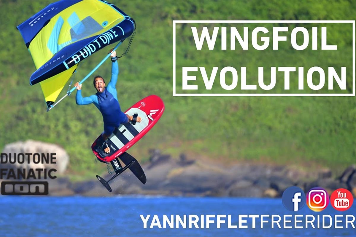 Yann Rifflet et le wingfoil