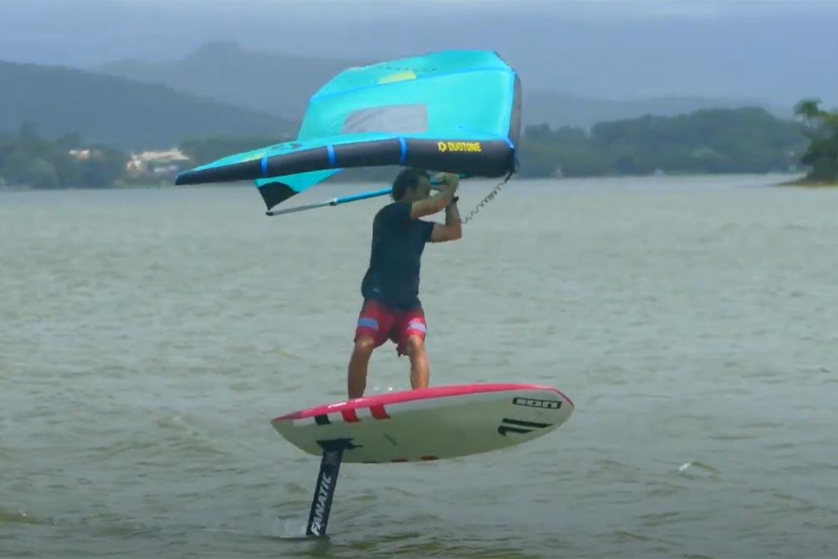Tuto wingfoil - Virement de bord